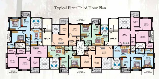 Omkar Dream Square II Cluster Plan