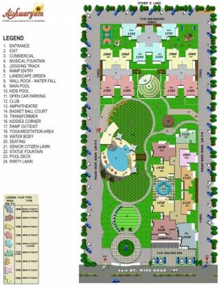 Wall Rock Aishwaryam Layout Plan