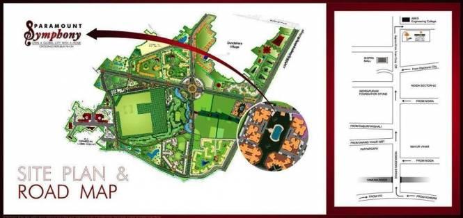 Paramount Orchid Location Plan