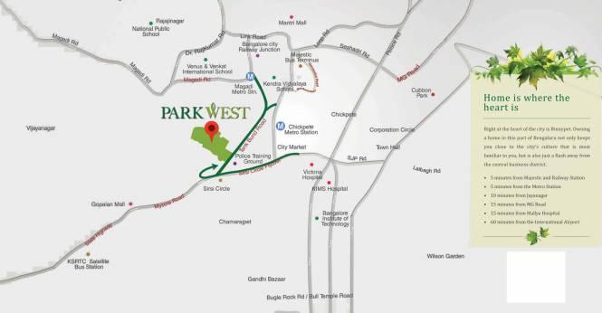 Shapoorji Pallonji ParkWest Location Plan