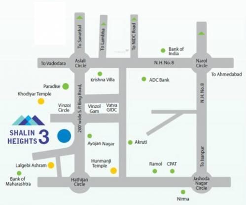 Shalin Heights 3 Location Plan