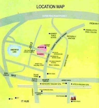 Janachaitanya Sai Anurag Location Plan