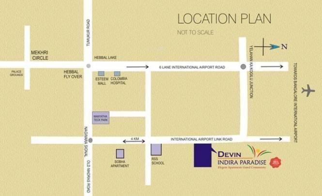 Shreedevi Devin Indra Paradise Location Plan