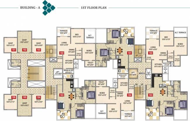 Namrata Crystal Park Cluster Plan