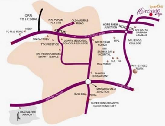 Parth Parth Orchid Location Plan