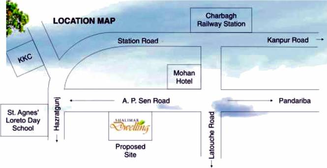 Shalimar Dwelling Location Plan