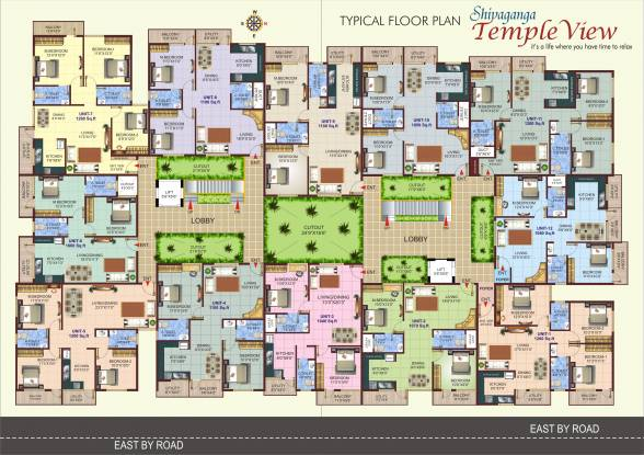 Shivaganga Temple View Cluster Plan