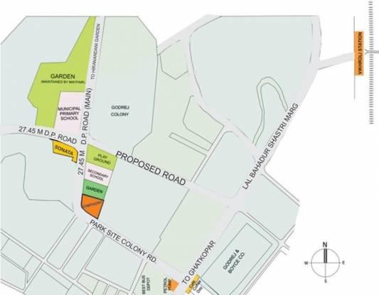 Mayfair Sonata Greens Location Plan