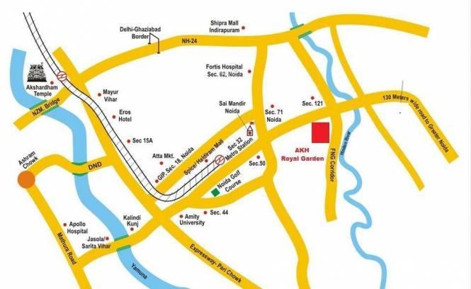 AKH Royal Garden Location Plan
