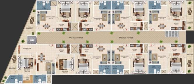 AKH Royal Apartment Cluster Plan