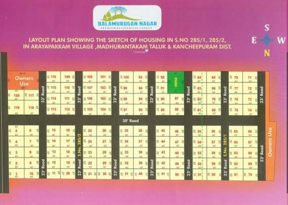 Sri Balamurugan Nagar Layout Plan