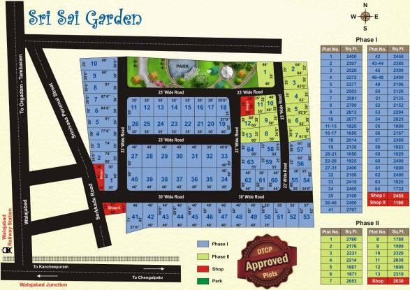 Sri Sri Sai Garden Layout Plan