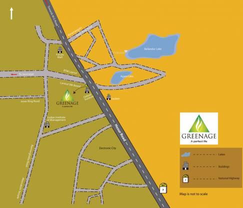 Salarpuria Sattva Greenage Phase II Location Plan