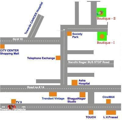 Pradeep Boutique Srinilaya II Location Plan
