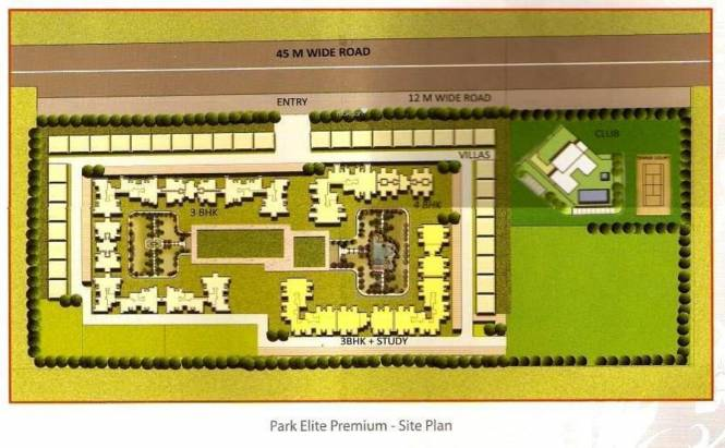 BPTP Park Elite Premium Site Plan