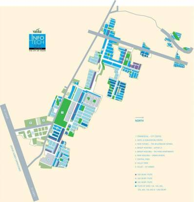 Vatika Infotech City Plots Location Plan