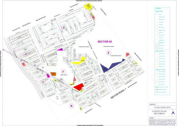 Vatika Plots Vatika India Next Layout Plan