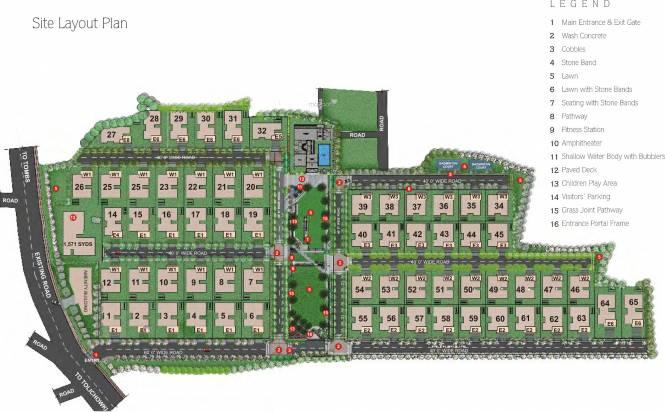 Sri Aditya Royal Palms Layout Plan