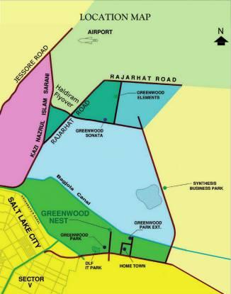 Shrachi Greenwood Nest Location Plan