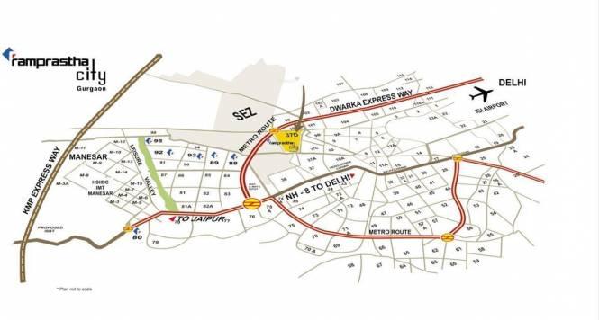 Ramprastha THE ARK Location Plan