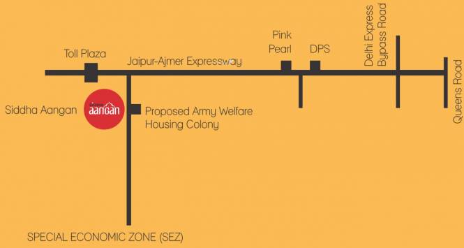 Siddha Aangan Location Plan