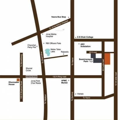 Dharmadev Swaminarayan Park 2 Location Plan