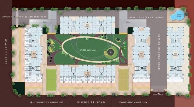 Dharmadev Swaminarayan Park 2 Site Plan