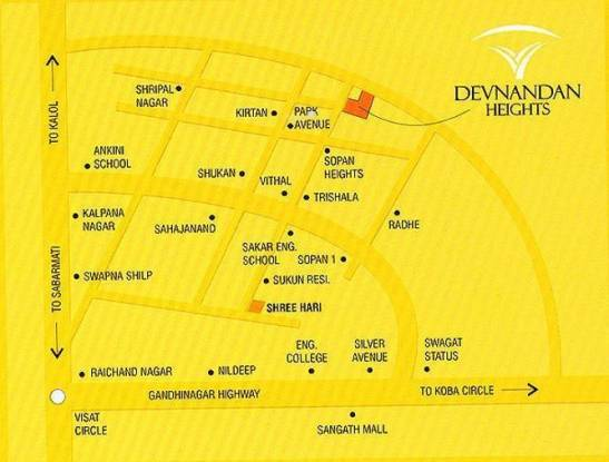 Devnandan Devnandan Heights Location Plan