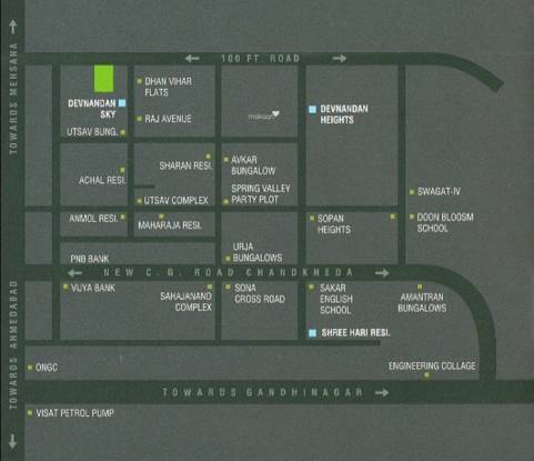 Devnandan Homes Location Plan