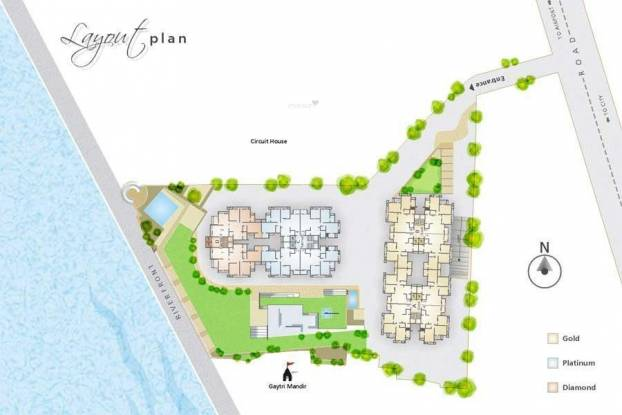 Dharmadev Neelkanth Riverview Layout Plan