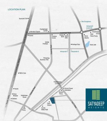 Deep Satyadeep Heights Location Plan