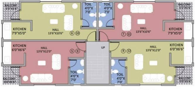 Goka Gold Valley Apartment Cluster Plan