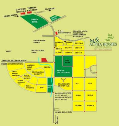 Msx Alpha Homes Location Plan