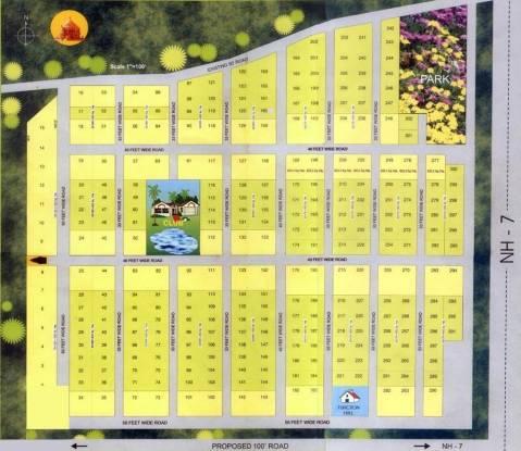 Rishi Brindavan Gardens Site Plan