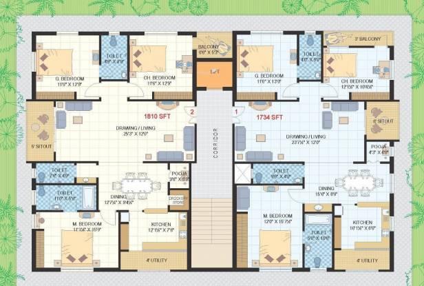 HSR Venkata Rama Serenity Cluster Plan