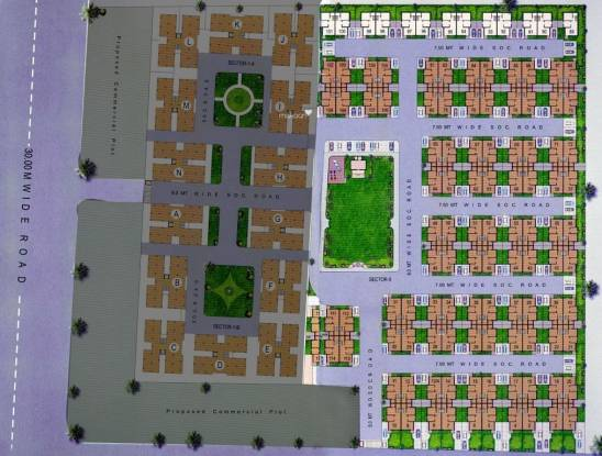 Desai Anand Vihar Bungalows Layout Plan