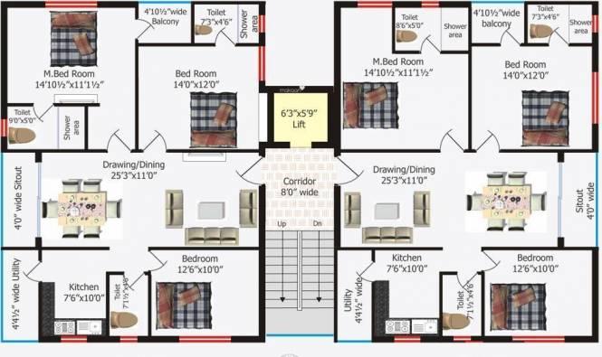 Kribh Westend Serena Cluster Plan