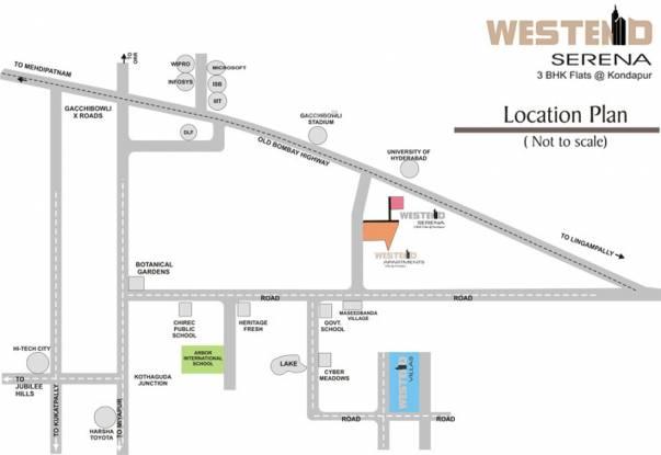 Kribh Westend Serena Location Plan