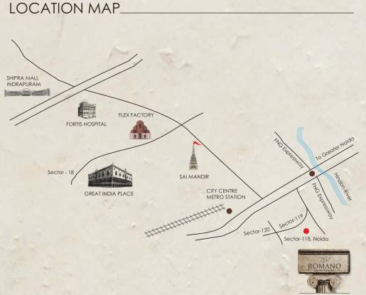 Supertech The Romano Location Plan