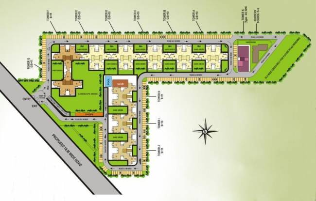 V Square Springdale Layout Plan