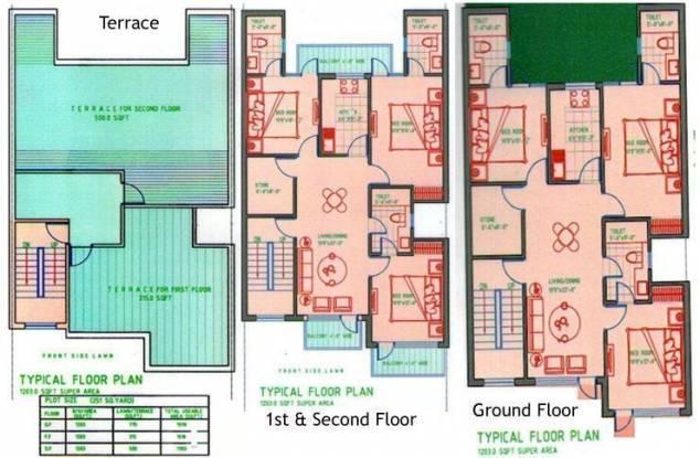 Ferrous Beverly Homes Cluster Plan