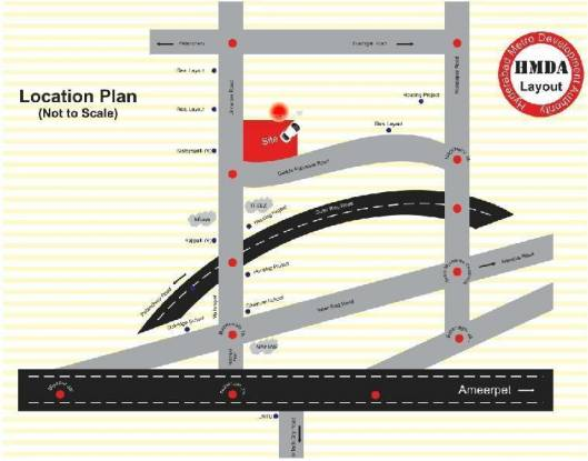Bhashyam Elite County Location Plan