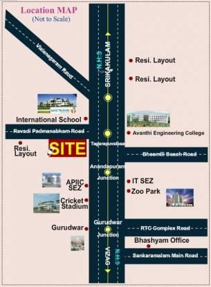 Bhashyam Lotus Park Location Plan