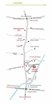 DBS Umang Lambha Location Plan