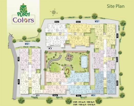 Aster Purti Colours Site Plan