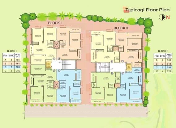 Tirath Residency Cluster Plan