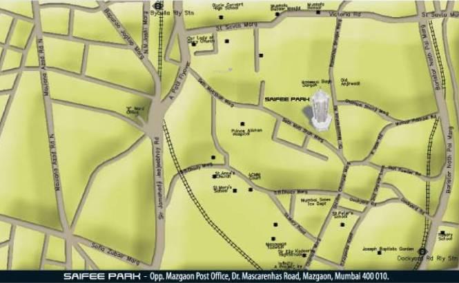 Red Saifee Park Location Plan