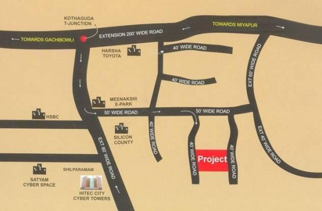 Ektha Basil Heights Location Plan