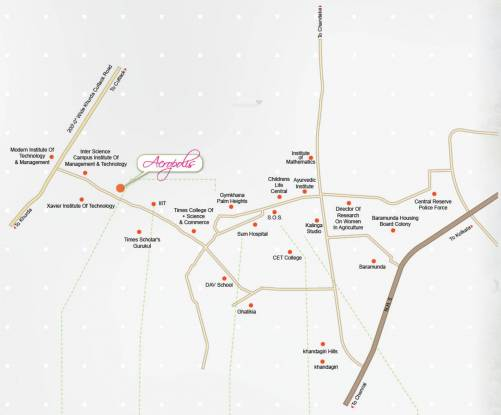 Acrux Realcon Pvt Ltd Acropolis Location Plan