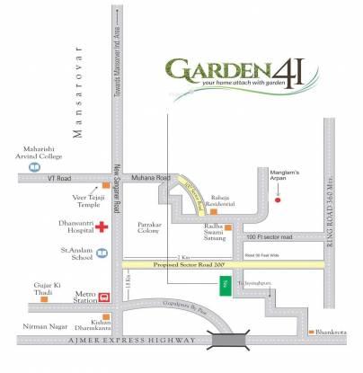 Anukriti Garden 41 Location Plan